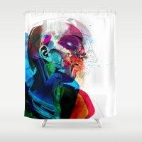 anatomy Shower Curtains featuring Anatomy Gautier v2  by Alvaro Tapia Hidalgo
