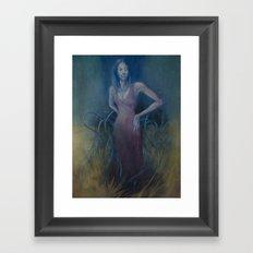 tall grass Framed Art Print