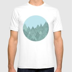 Forest MEDIUM White Mens Fitted Tee