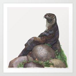The Majestic Otter Art Print