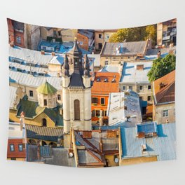 Colors of city Wall Tapestry