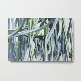 Green Crush Cactus I Metal Print
