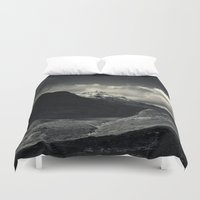 nan lawson Duvet Covers featuring Sgùrr nan Gillean and Loch na Creitheach from Camasunary, Isle of Skye by Ferdinand Bardamu