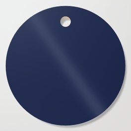 Navy Blue Minimalist Solid Color Block Cutting Board