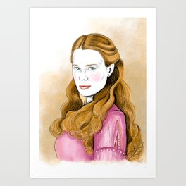 The Bride Princess Art Print