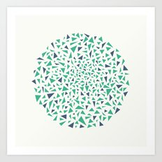 Eye Test - green/blue Art Print