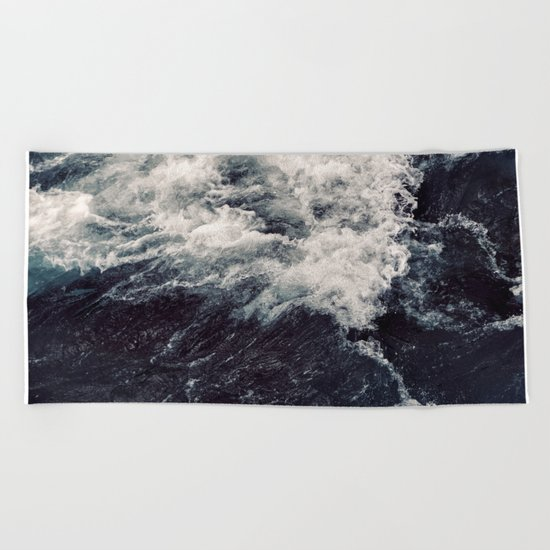 Rush of Waves Beach Towel