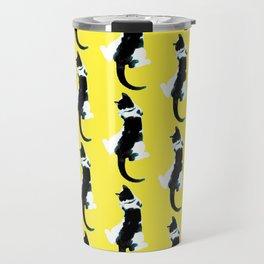 Benji the Cat Yellow Travel Mug