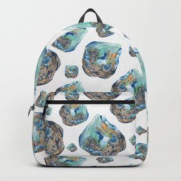 Opal October Birthstone Watercolor Illustration Backpack