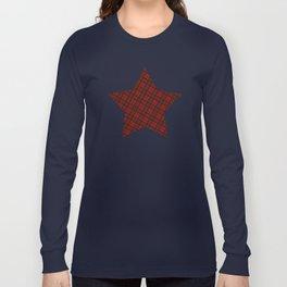 Adorable Red Christmas tartan Long Sleeve T-shirt