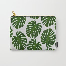 Monstera Leaf III Carry-All Pouch