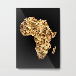 Geometric Africa Silhouette Metal Print