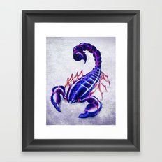 Purple scorpion Framed Art Print