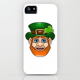 Leprechaun Smiling Face Irish St Patty_s Day iPhone Case