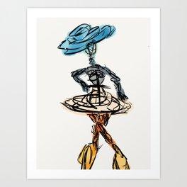 Danse Mchezaji Art Print