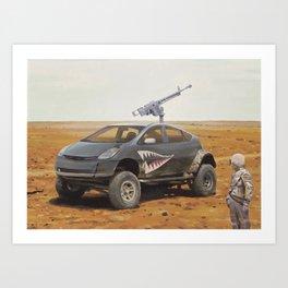 Prius Road Machine Art Print