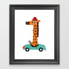 giraffe driver Framed Art Print