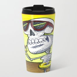 Skeleton in the Heat Metal Travel Mug