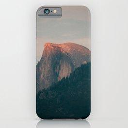 Half Dome Sunset in Yosemite iPhone Case