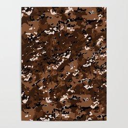 Brown Popular Multi Camo Pattern Poster