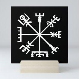 Vegvísir [Viking Compass] Mini Art Print