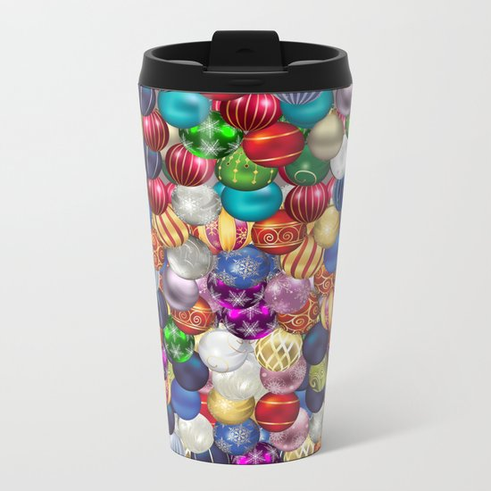 Christmas balls Metal Travel Mug