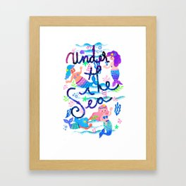 Pattern-little mermaids Framed Art Print