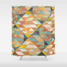Triangles and Circles Pattern no.23 Shower Curtain