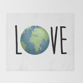Love The Earth Throw Blanket