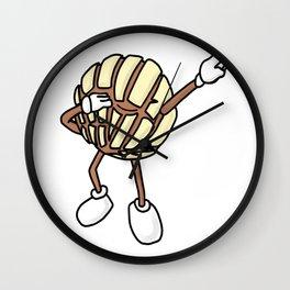 Vanilla Concha Dab Mexican Bread Holiday Wall Clock