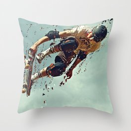 skate board 6 Throw Pillow