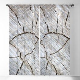 Weathered Cut Log Blackout Curtain