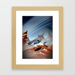 Steel and Rock Framed Art Print