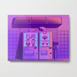 Neon Vending Machines Metal Print