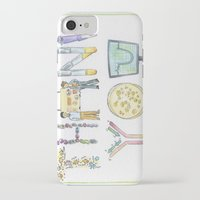biology iPhone & iPod Cases featuring Biology Thank You card by SaelifeStudio