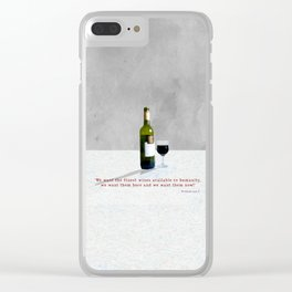 Glass of Wine Clear iPhone Case