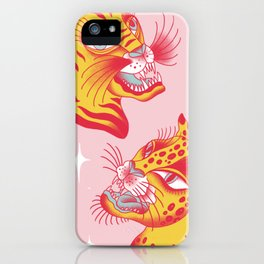 Tigerpop pattern iPhone Case