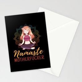 Namaste Motherf cker Gift Anime Girl Neko Stationery Cards