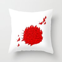 japan Throw Pillows featuring japan by Sophie Rousseau