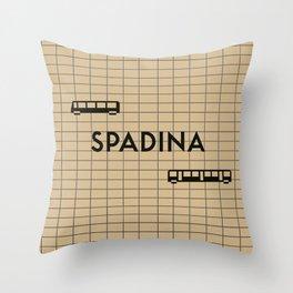 SPADINA | Subway Station Throw Pillow