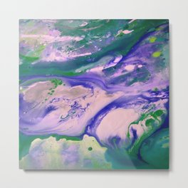 blue green abyss Metal Print
