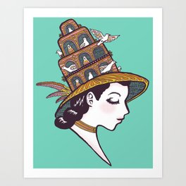 Bird House Couture Art Print