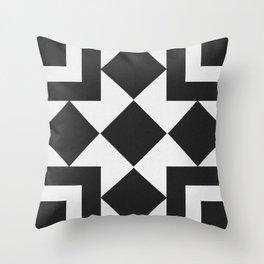 Black & White Tile Pattern Throw Pillow