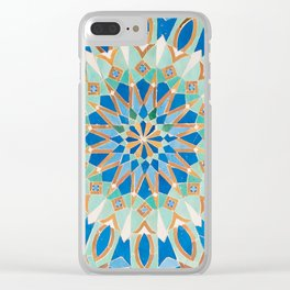 Moroccan Tile - Zellige VI (Traditional) Clear iPhone Case
