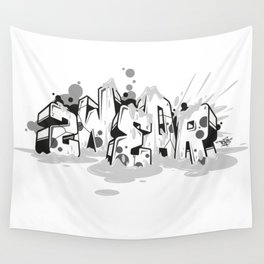 Dae120 blocks graffiti style ver.0.3 Wall Tapestry
