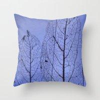 leaf Throw Pillows featuring leaf by Bunny Noir