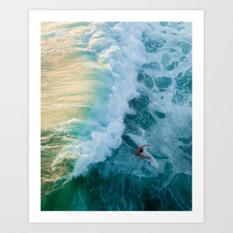 Colorful Surf Art Print