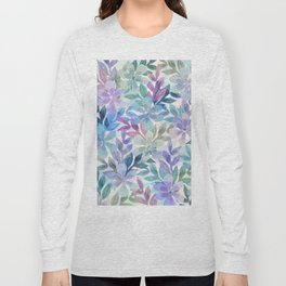 watercolor Botanical garden Long Sleeve T-shirt