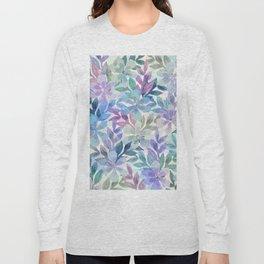 watercolor Botanical garden Long Sleeve T-shirt
