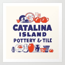 Catalina Island Pottery - Pottery & Tile Design #1 Art Print